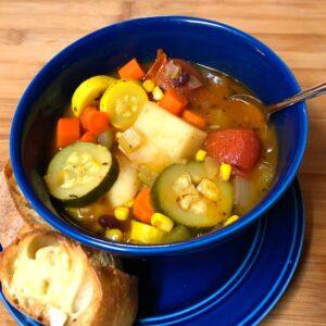 vegan rustic vegetable soup
