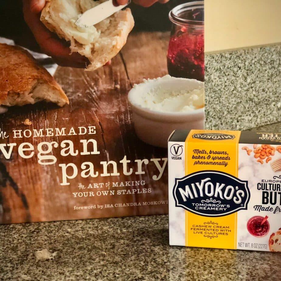 The Homemade Vegan Pantry cookbook, vegan butter and cheese Miyoko Schinner