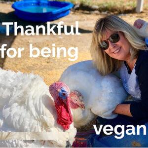 Thankful for being vegan