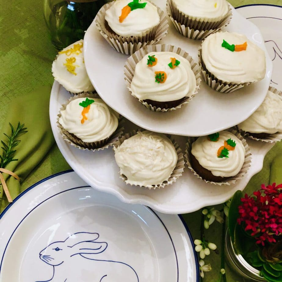 mom's vegan carrot cake cupcakes