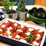 vegan potato enchilada casserole