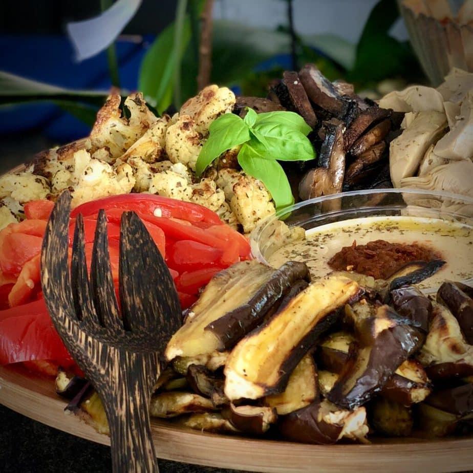 vegan mediterranean roasted veggies