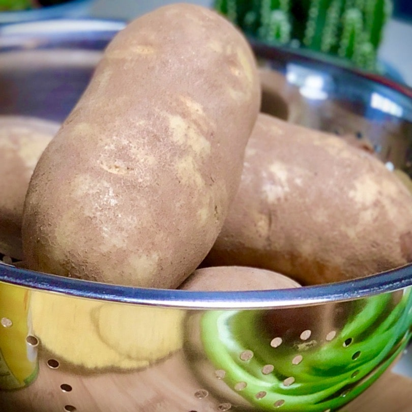 Russet Potatoes in a colander