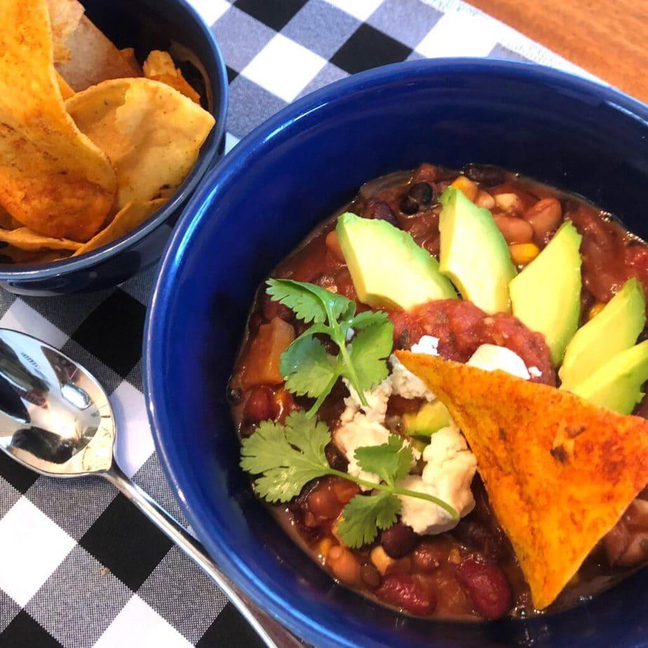 Simply great vegan chili recipe