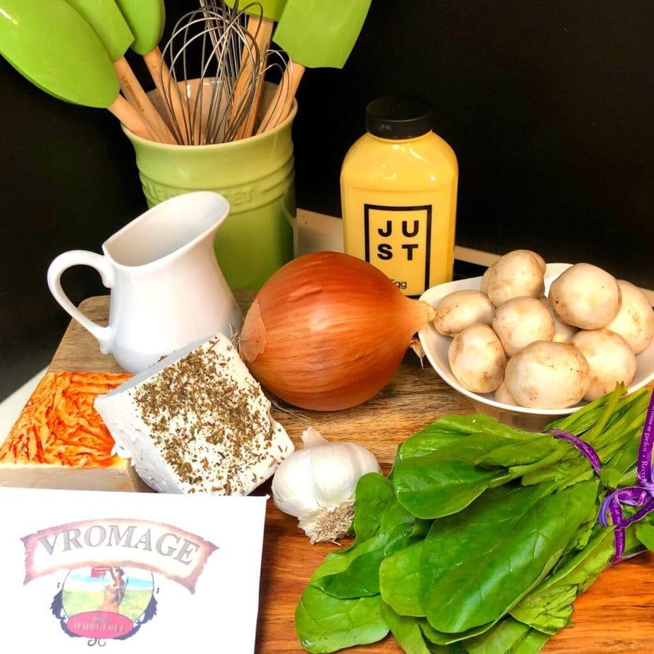 vegan quiche ingredients