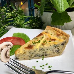 best spinach mushroom vegan quiche