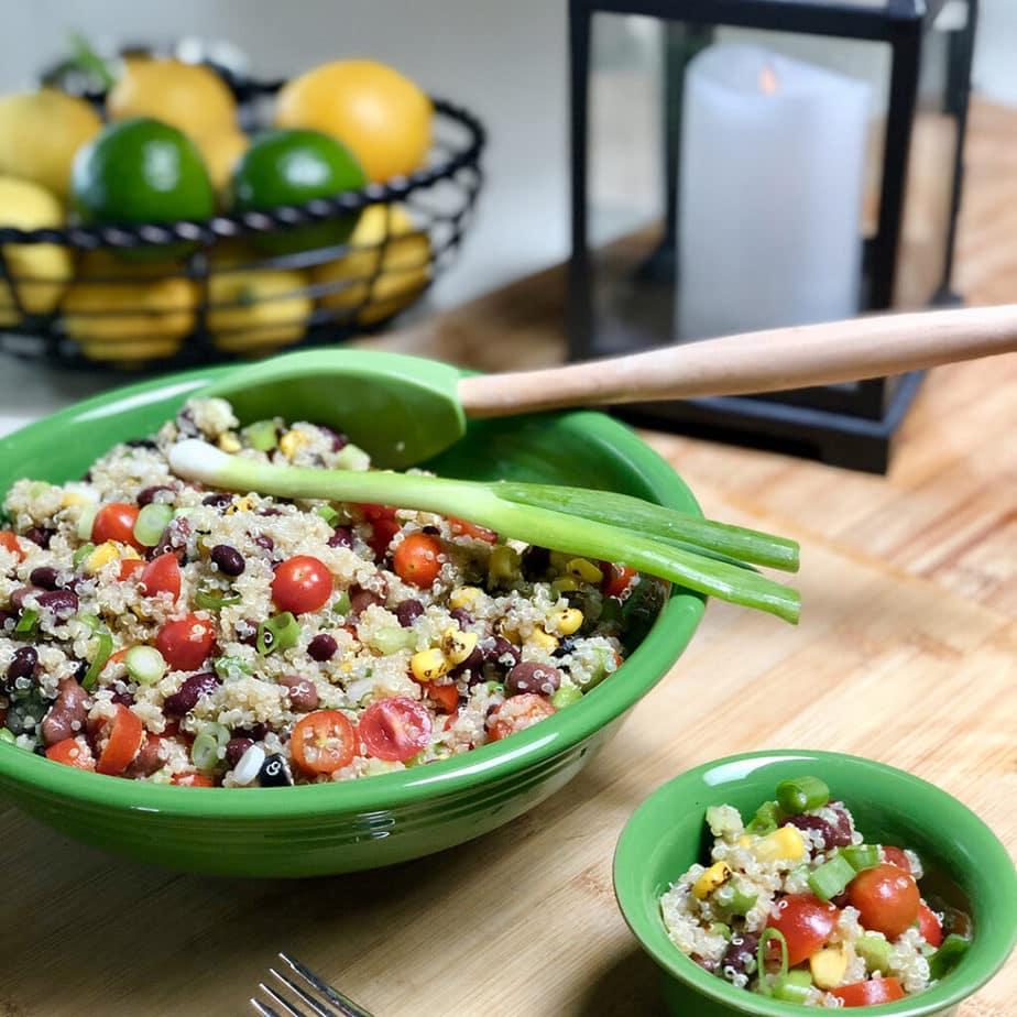 vegan southwestern quinoa salad