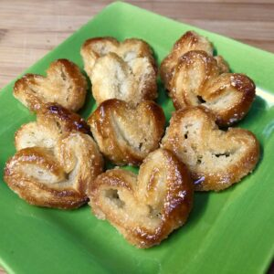 vegan palmier heart pastries