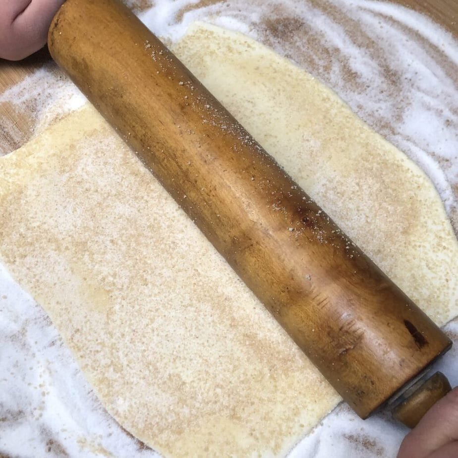 rolled vegan puff pastry