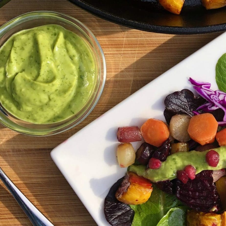 Vegan Avocado Basil Dressing
