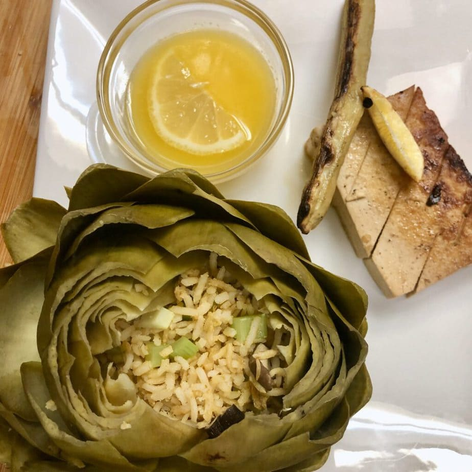 vegan stuffed artichoke