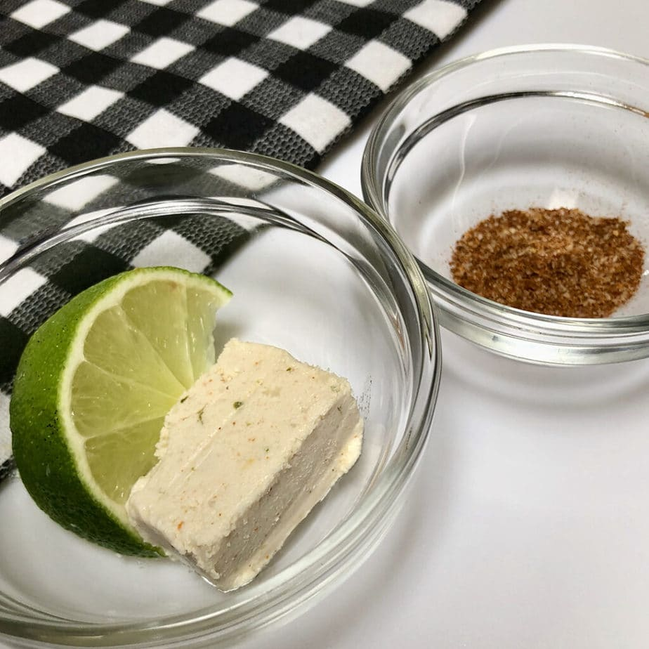 Vegan chile lime infused butter