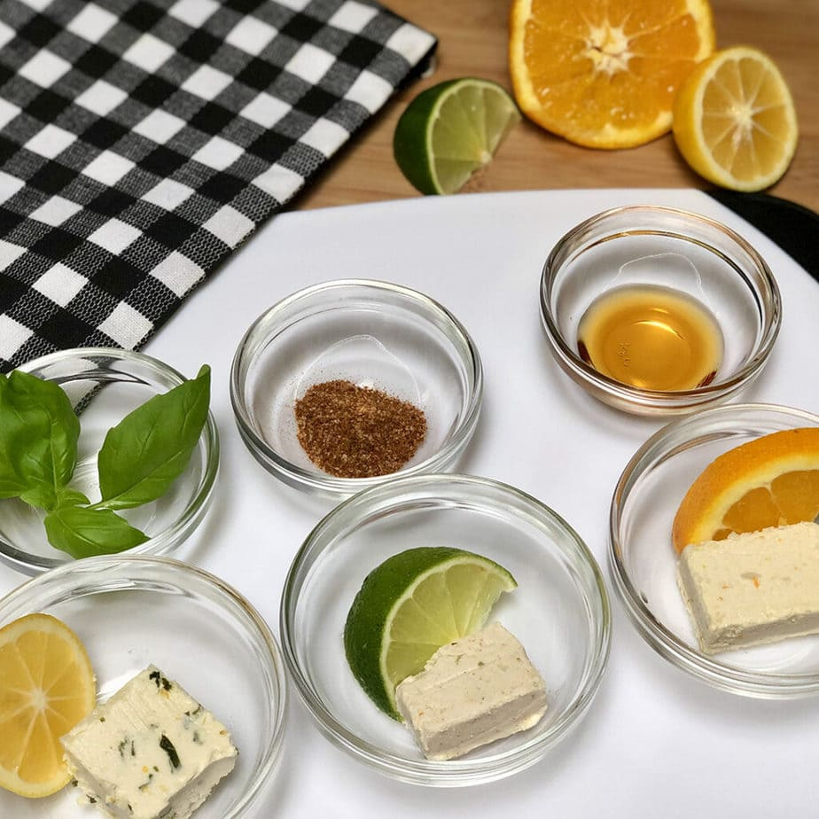 citrus infused vegan butters