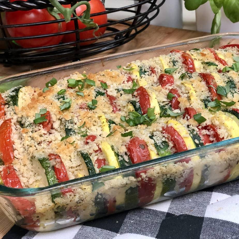 garden squash casserole baked