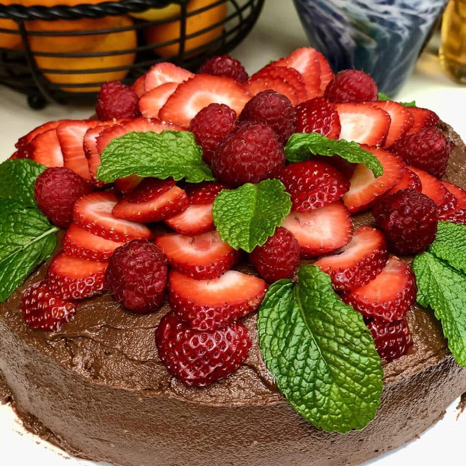 vegan devi''s food cake