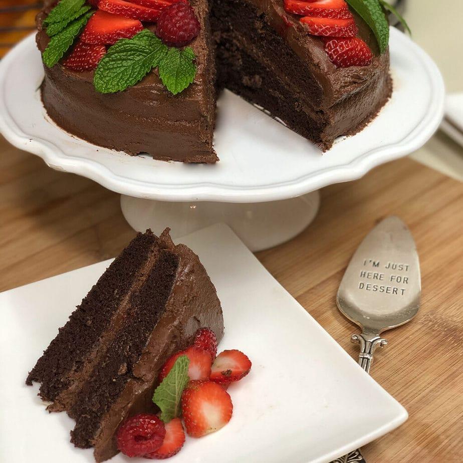 vegan devil's food cake