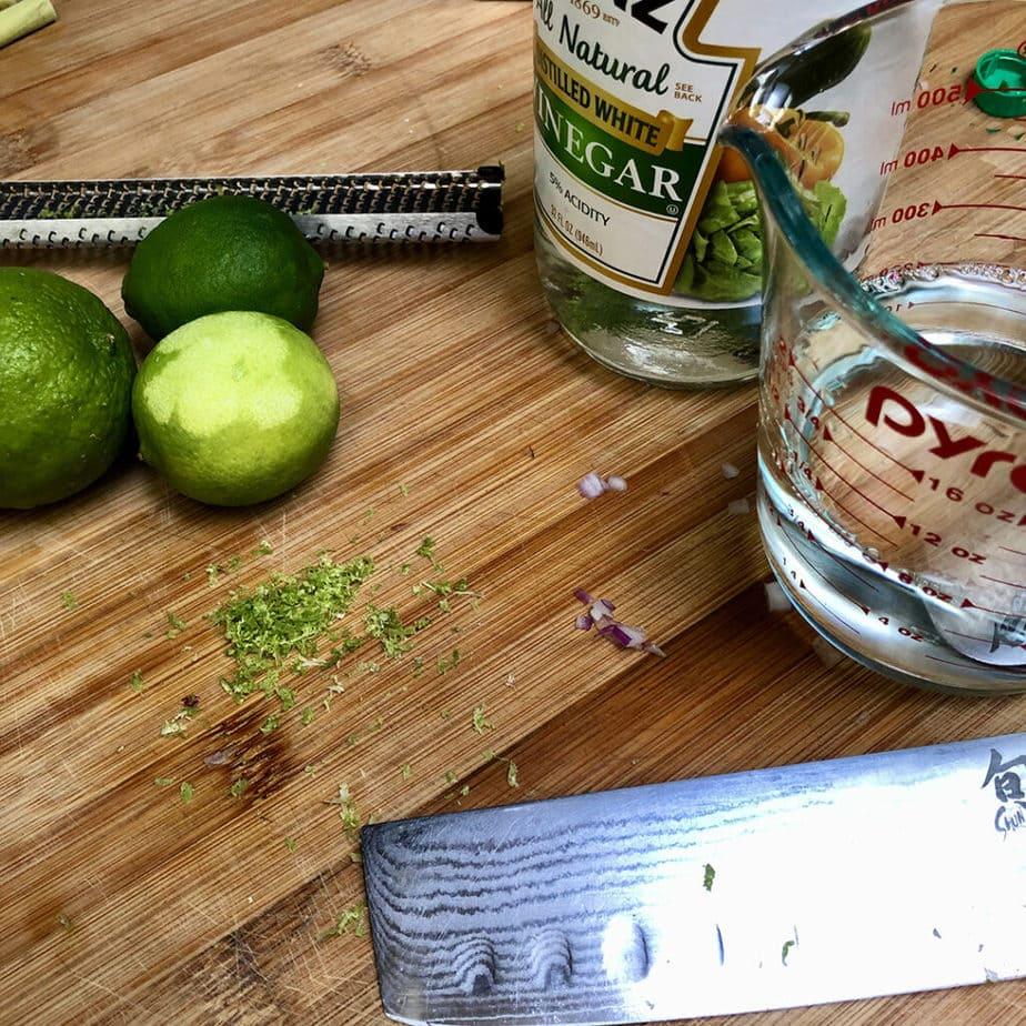 lime zest white vinegar