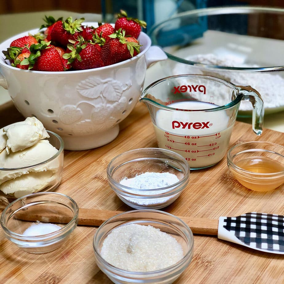 vegan strawberry shortcake ingredients