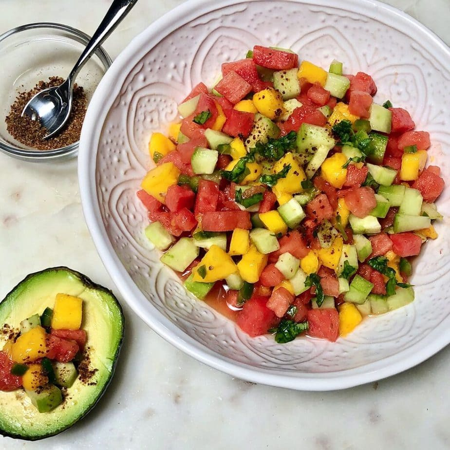 watermelon pico de gallo overhead
