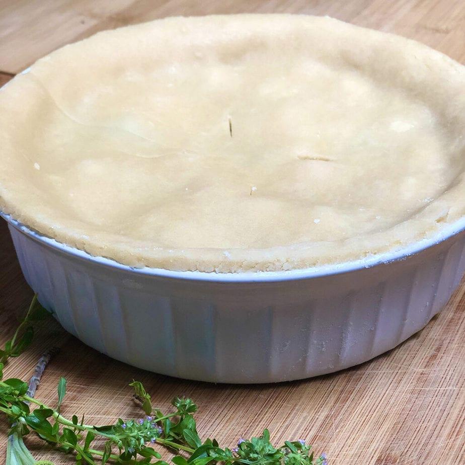 full vegan pot pie with top crust