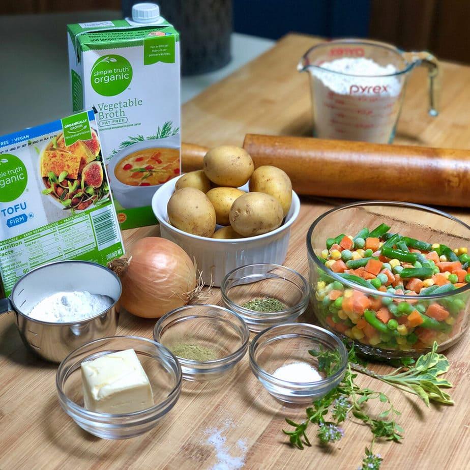 vegan pot pie ingredients