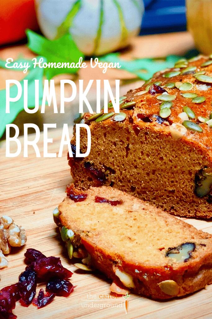 vegan pumpkin bread pin
