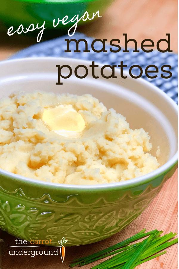 easy vegan mashed potatoes in bowl