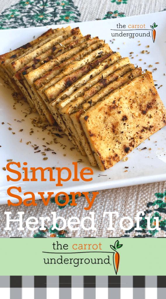 simple savory herbed tofu