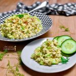 easy vegan eggless egg salad