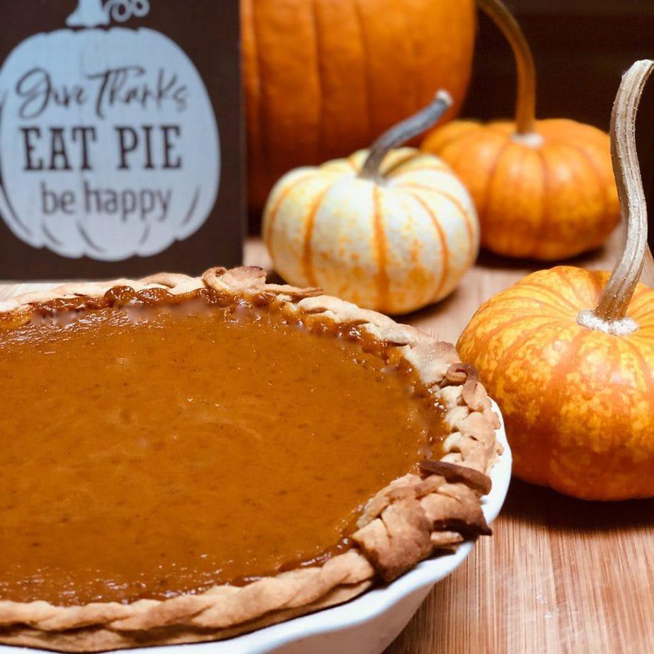 Vegan pumpkin pie.