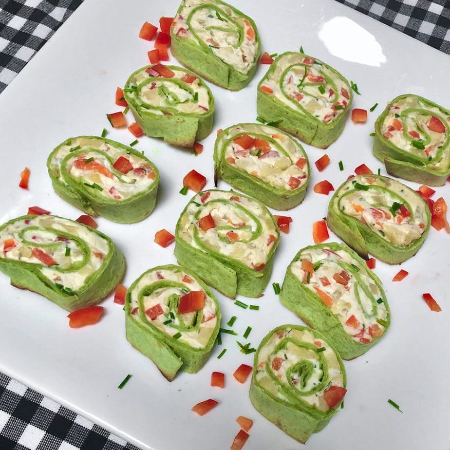 Vegan fiesta rolls on plate