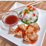 vegan sweet & sour macadamia tofu