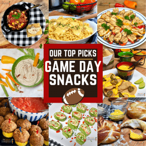 variety of vegan game day snacks