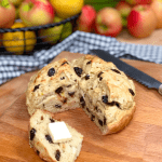 easy vegan irish soda bread sliced with a dab of butter