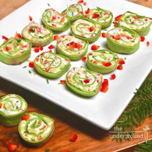 vegan fiesta pinwheels on plate
