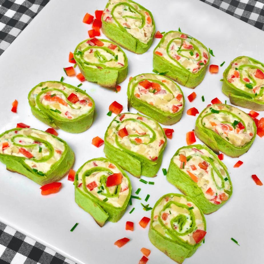 vegan fiesta pinwheels