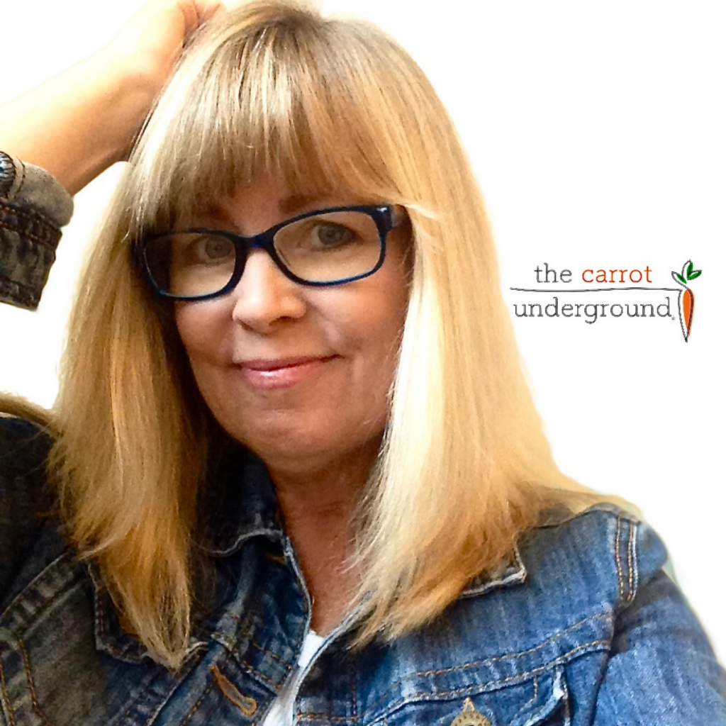 Connie Edwards McGaughy - vegan blogger and creator of The Carrot Underground.