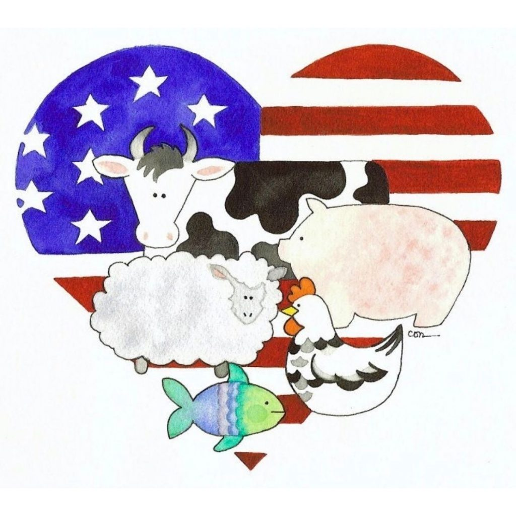 Logo for The Great American Meatout San Diego by Connie Edwards McGaughy